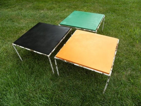Rusty Relic Mid Century Vintage Stacking Tables
