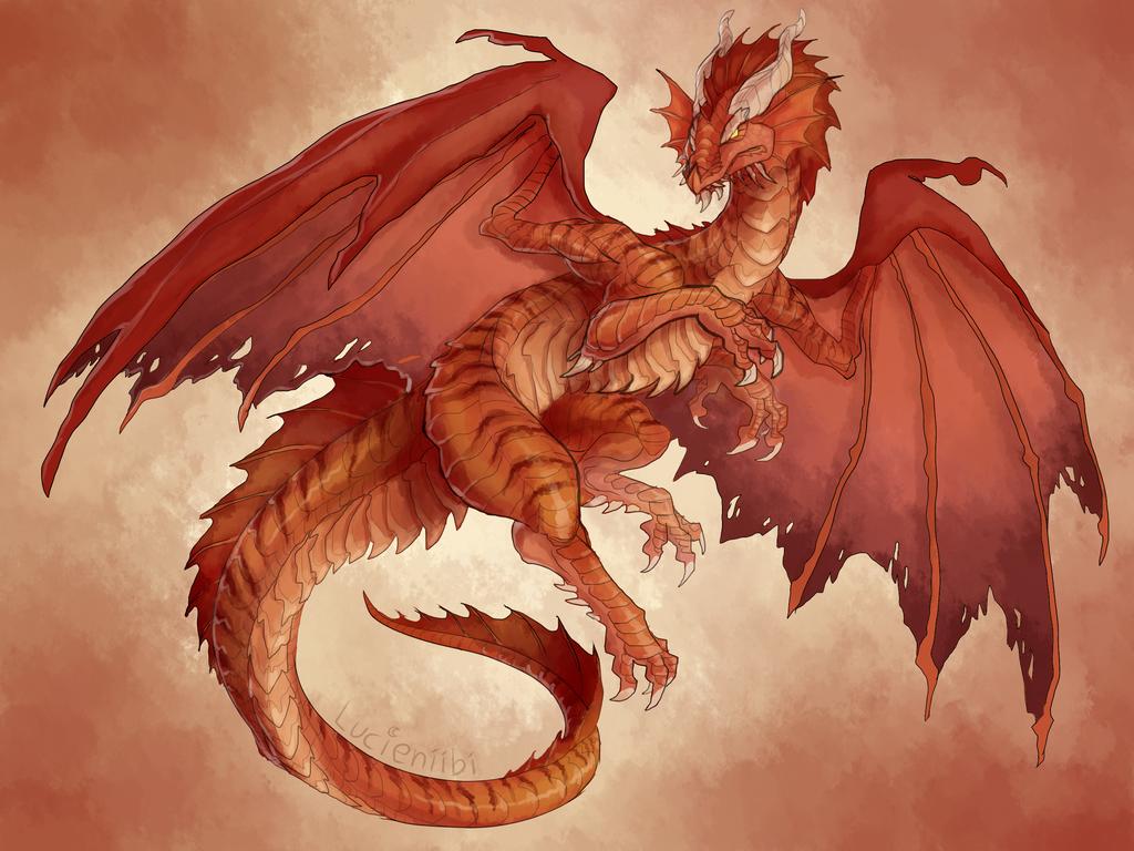 Dnd Ancient Red Dragon By Lucieniibi Red Dragon Dragon Fantasy Dragon