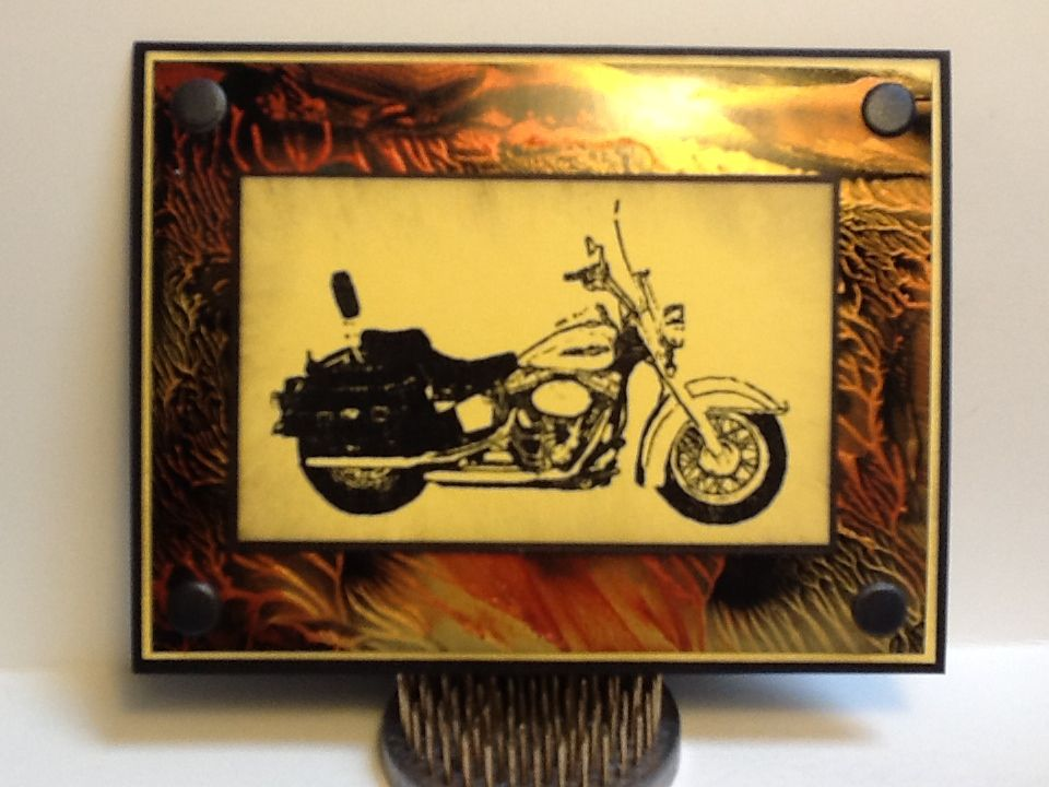 Motorcycle Card - background is made with Luna Lights paint, love the effect!