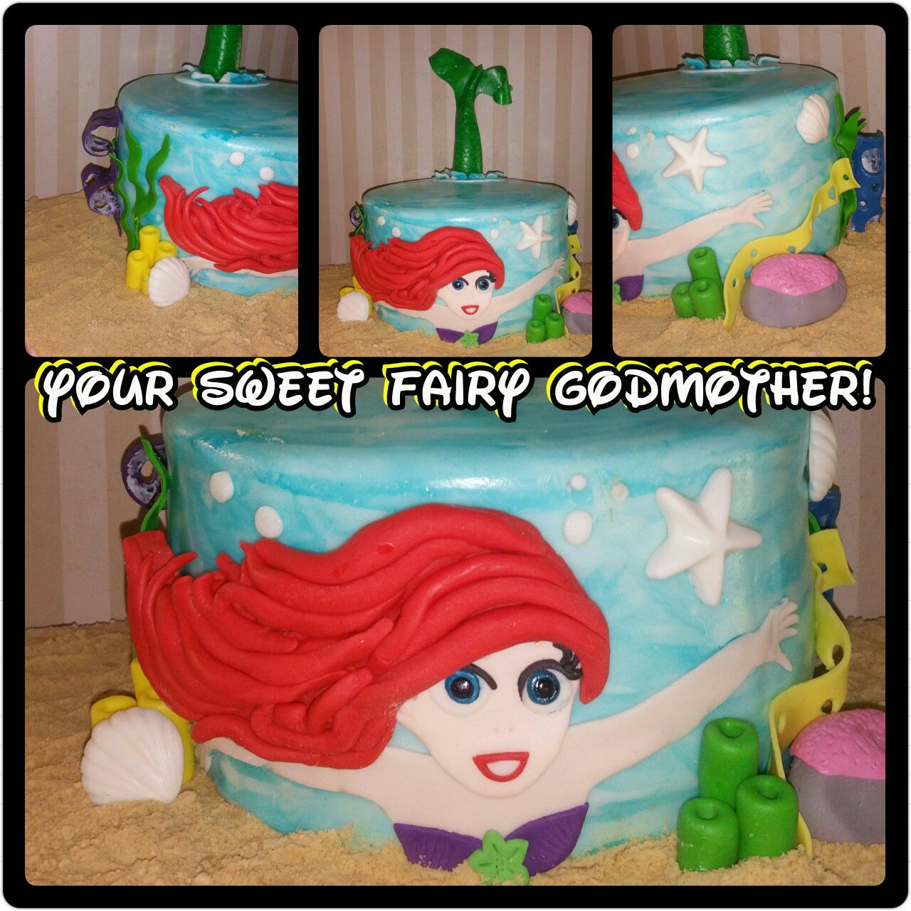 Disneys little mermaid cake sugar art little mermaid cakes