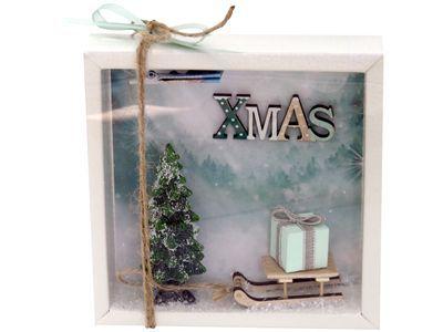 Geldgeschenk Verpackung Weihnachten Gutschein Schlitten XMAS Geschenk #adventskranzgrau
