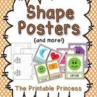 Please download the preview for a closer look.    If your classroom has a polka dot theme, this shape poster set is perfect for you! Colors are brigh...