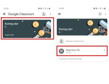 mengirim tugas video ke google classroom