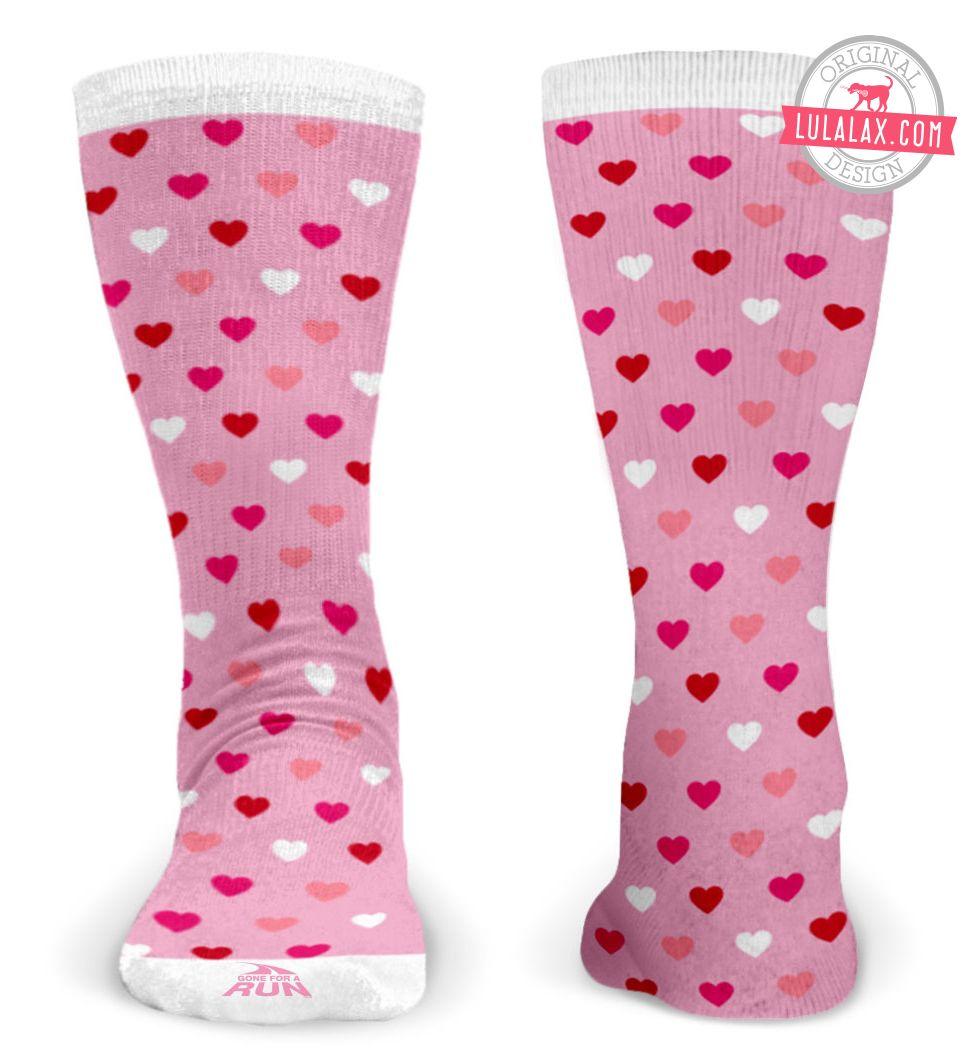 Valentine Hearts Lacrosse socks!