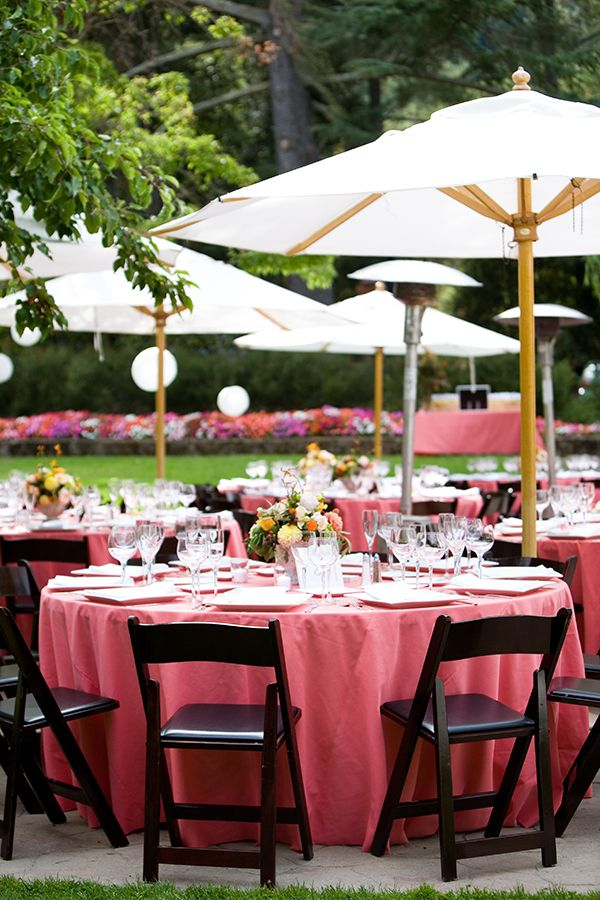 Tables Umbrellas For Wedding!