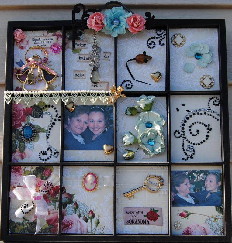 Photo Printers Tray I designed for my 1st Granddaughters 18th Birthday. Included on the tray are pictures of her and I and items that were given to me by her mom, her Gr. Grandmother and Gr Gr Grandmother over the years. A keepsake to cherish.