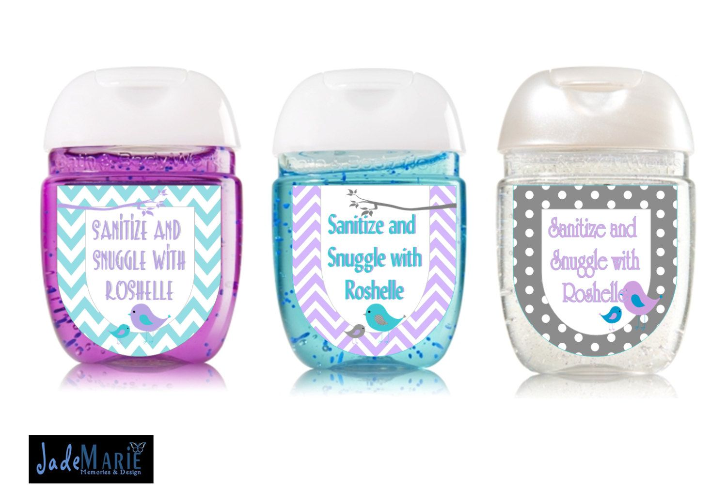 Little Birdie Hand Sanitizer Labels Baby Shower Favors Birthday