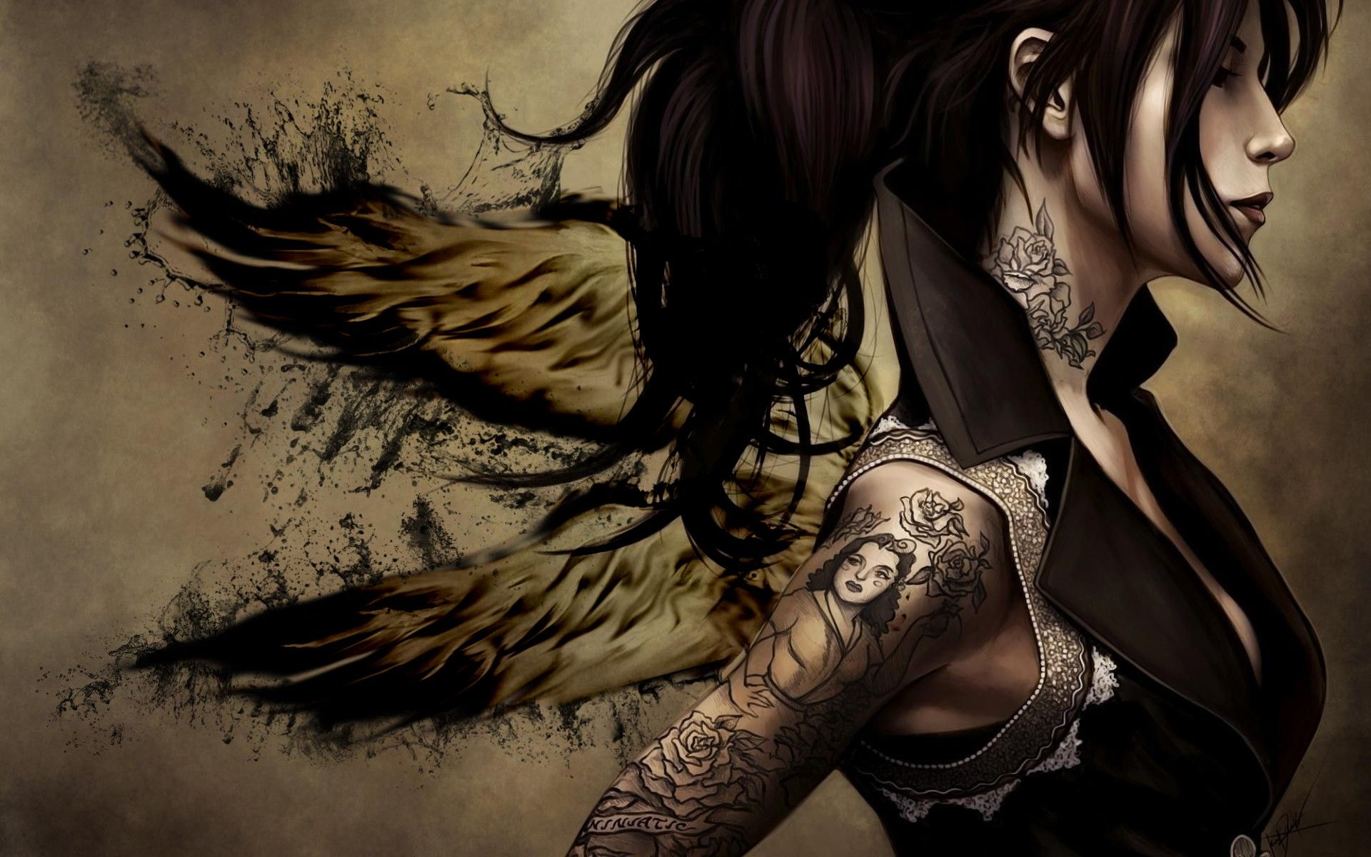 Pin By Roxy Smith On Art Photography Tattoo Girl Wallpaper Fantasy Tattoos Girl Tattoos Tattoo wallpaper full hd