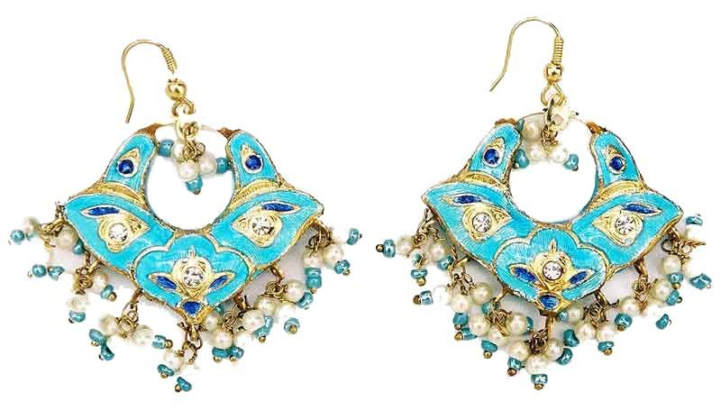 Indian Jewellery Lac Earrings Indian Bridal Jewelry Pinterest