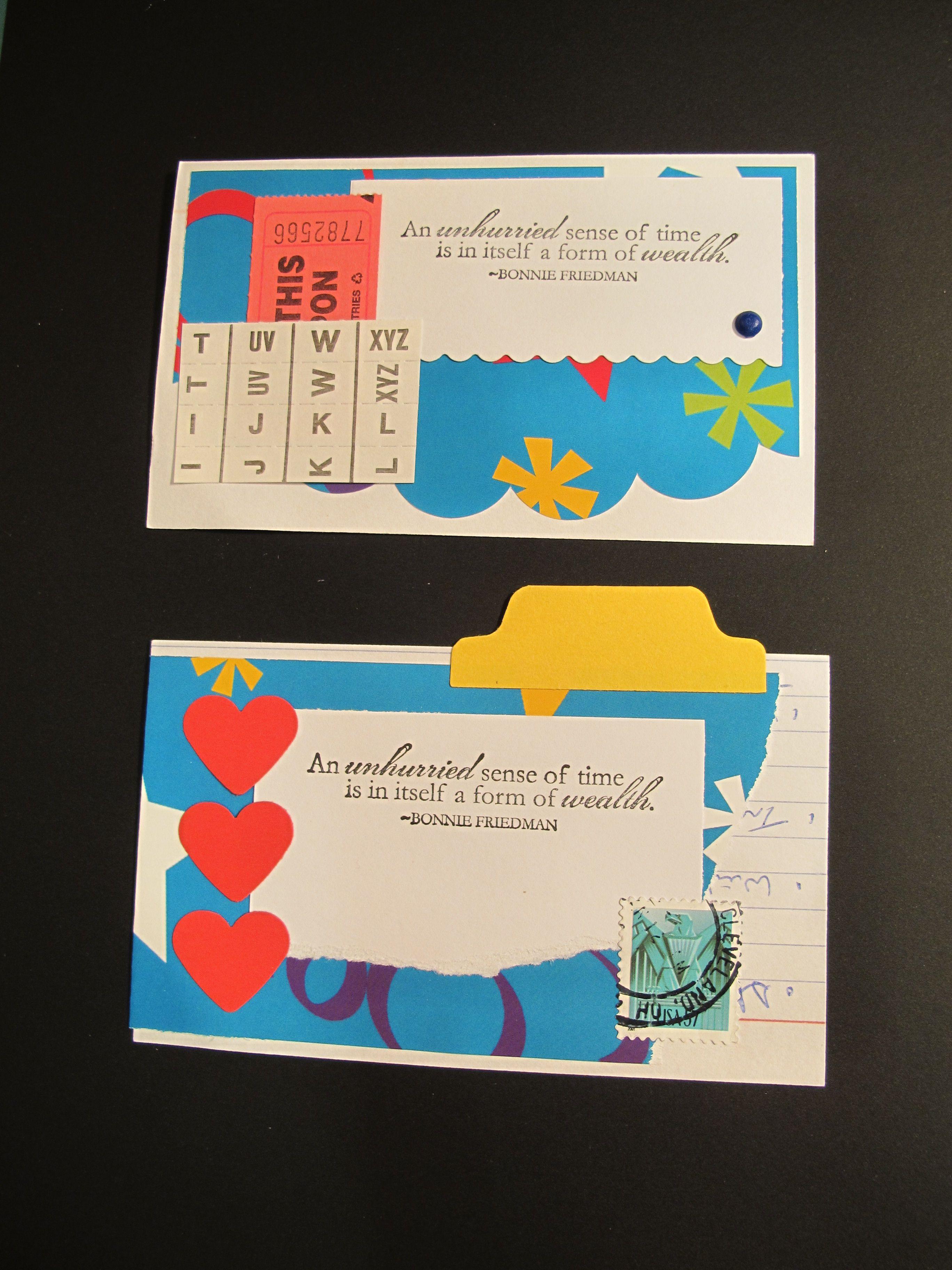 tab on an index card index card a day 2012