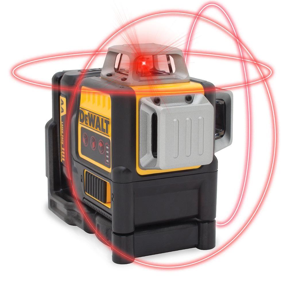 Dewalt 150 Ft Red Self Leveling 2 X 360 Degree Line Laser Level With 4 Aa Batteries Case Dw0811lr Red Line Steel