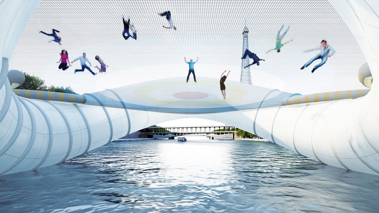 Image result for trampoline bridge paris