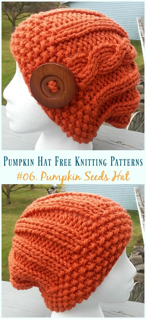 Pumpkin Hat Free Knitting Patterns Baby To Adults Crochet And