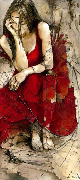 "Lidia Wylangowska - ""Dream Catcher"" 80""x36"" oil on wood"