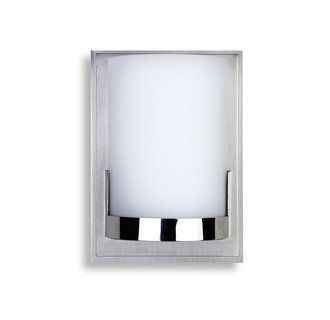 Kovacs P5951 077 Chrome Convex Single Light 5 Wide Bathroom Sconce With Etched Opal Shade Ada Compliant Lightingdirect Com Wall Sconce Lighting Bathroom Sconces Wall Sconces