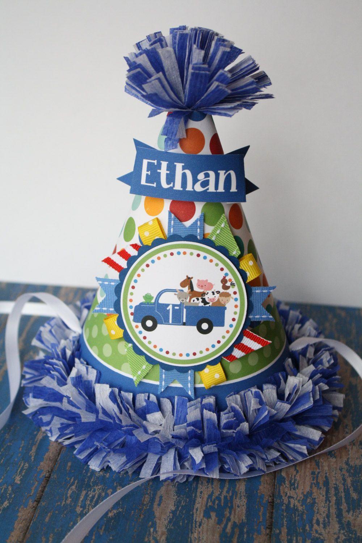 Little blue truck party hat little blue truck birthday