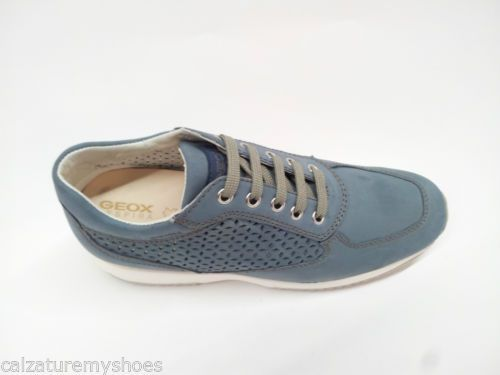 SCARPE-DONNA-SNEAKERS-GEOX-D-HAPPY-A-D5262A-000CL-C4008-PELLE-DENIM ... 06f83725cfe