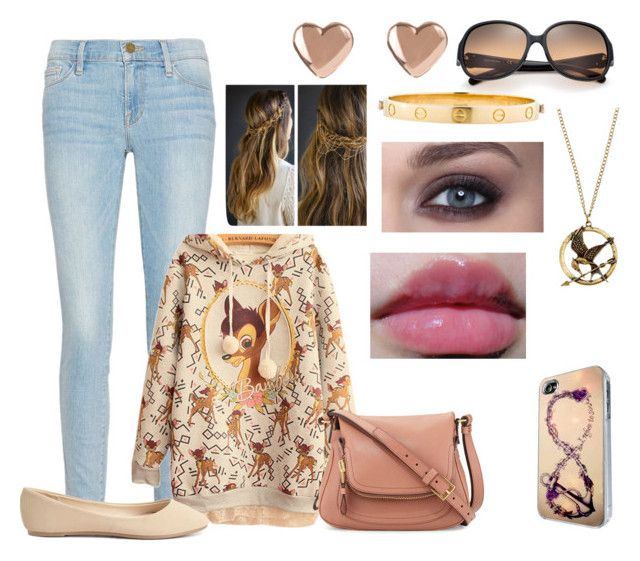 Sem título #1531 by luaanasx on Polyvore featuring polyvore, fashion, style, Frame Denim, Charlotte Russe, Tom Ford, Ted Baker, Cartier, CO, Tory Burch, women's clothing, women's fashion, women, female, woman, misses and juniors