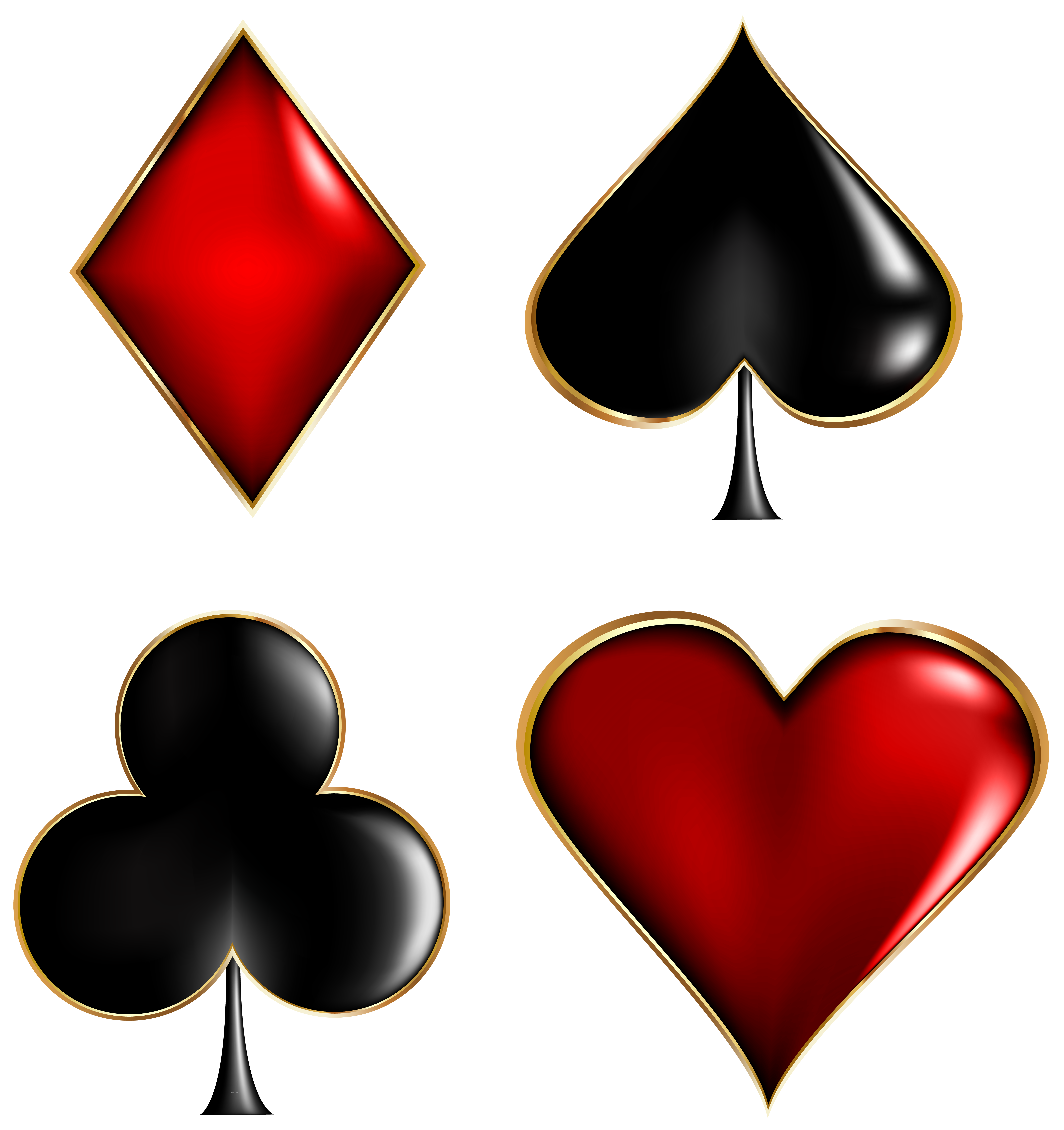 Card Suits Transparent Clip Art Image Gallery Yopriceville High Quality Images And Transparent Png Free Clipart Card Tattoo Clip Art Art Images
