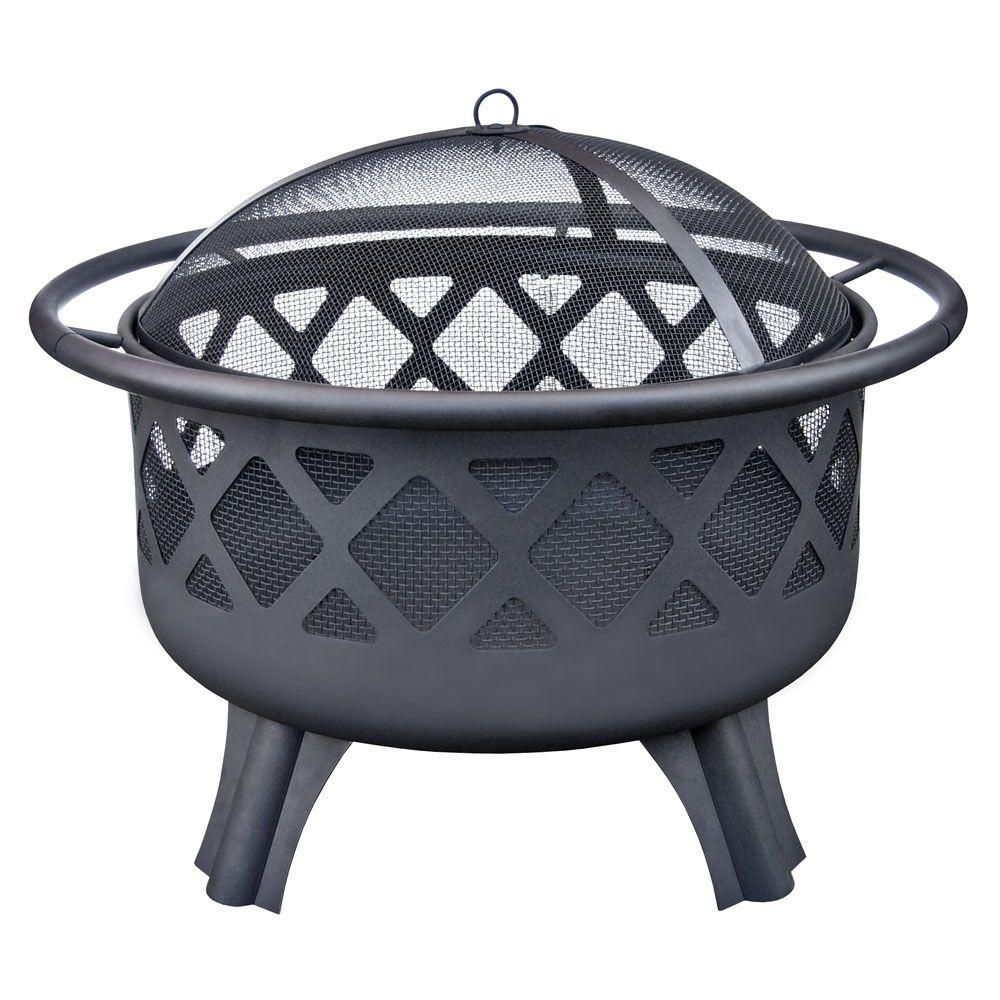 Home Depot Fire Pit Hampton Bay Crossfire 29 50 In Steel Fire Pit With Cooking Grate
