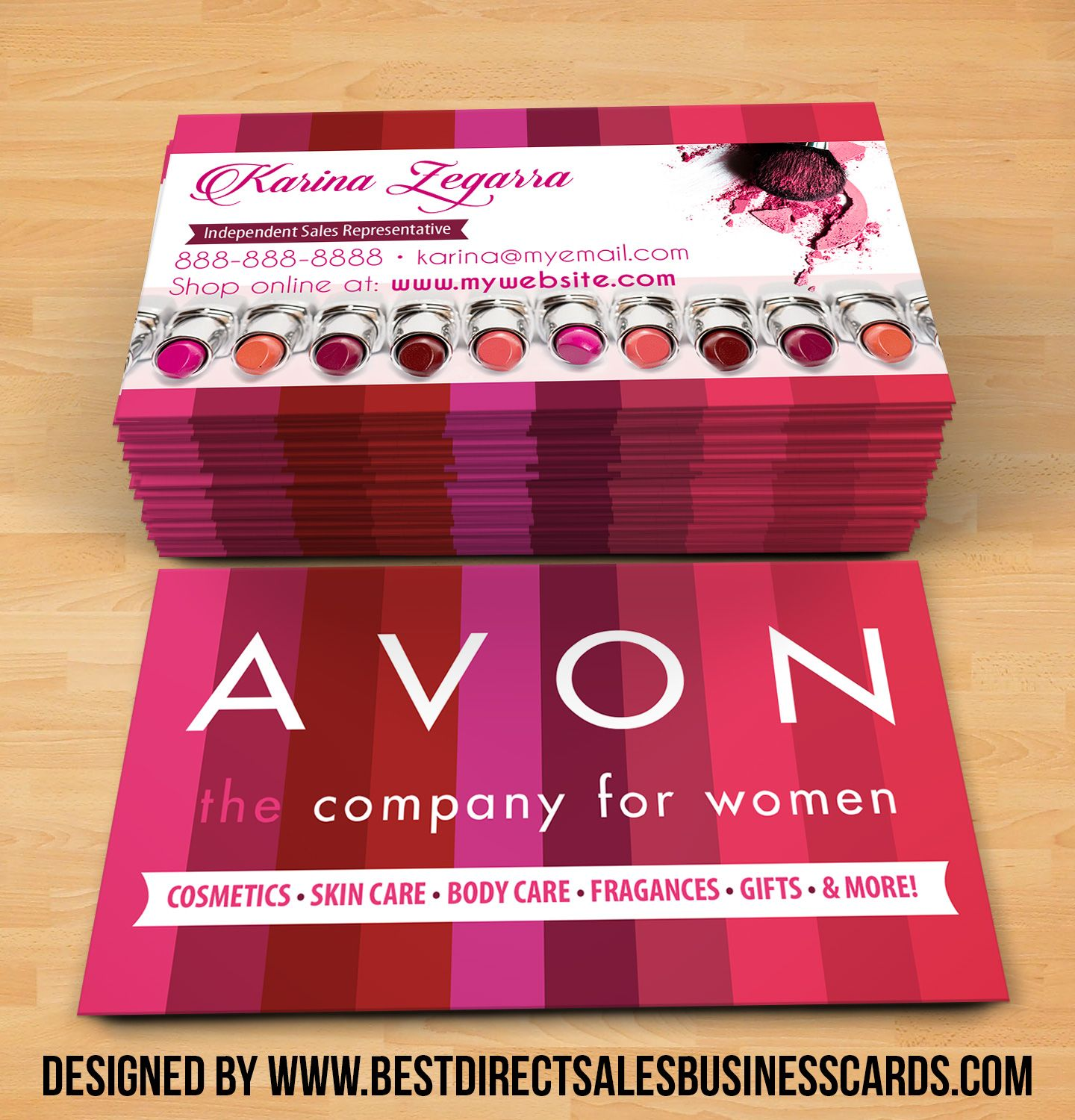 Avon business cards style 1 from kz creative services avon avon business cards style 1 fbccfo Images