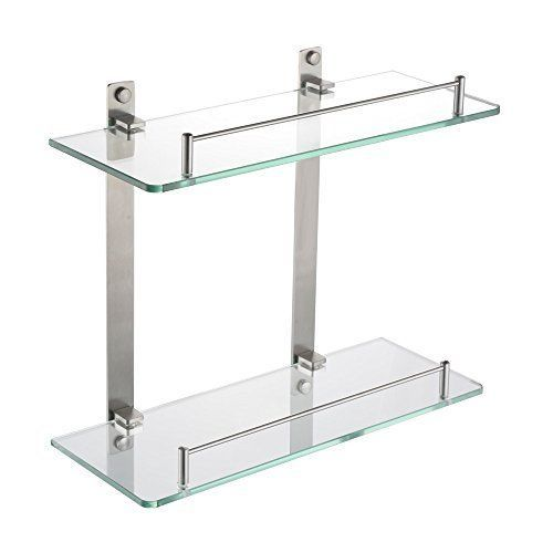 Awe Inspiring Details About Bathroom Glass Shelf Wall Mount 2 Tier Download Free Architecture Designs Scobabritishbridgeorg