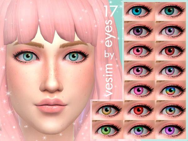 vesim's 17 Eyes Non Default   The Sims   Sims 4, Sims 4