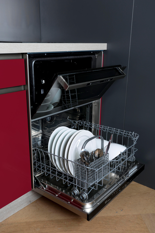 Compact Usa Petit Lave Vaisselle Cuisine Rouge Amenagement Petite Cuisine