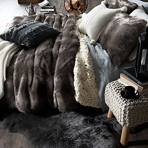 Cuddle Up And Keep Warm With The Ugg Polar Faux Fur Comforter Set For A Restful Night S Sleep Featuring A Plush Text Comforter Sets Bed Linens Luxury Cozy Bed