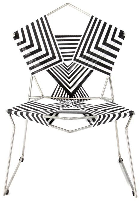 rami tareef creates chairs with geometric patterns by wrapping and rh pinterest com