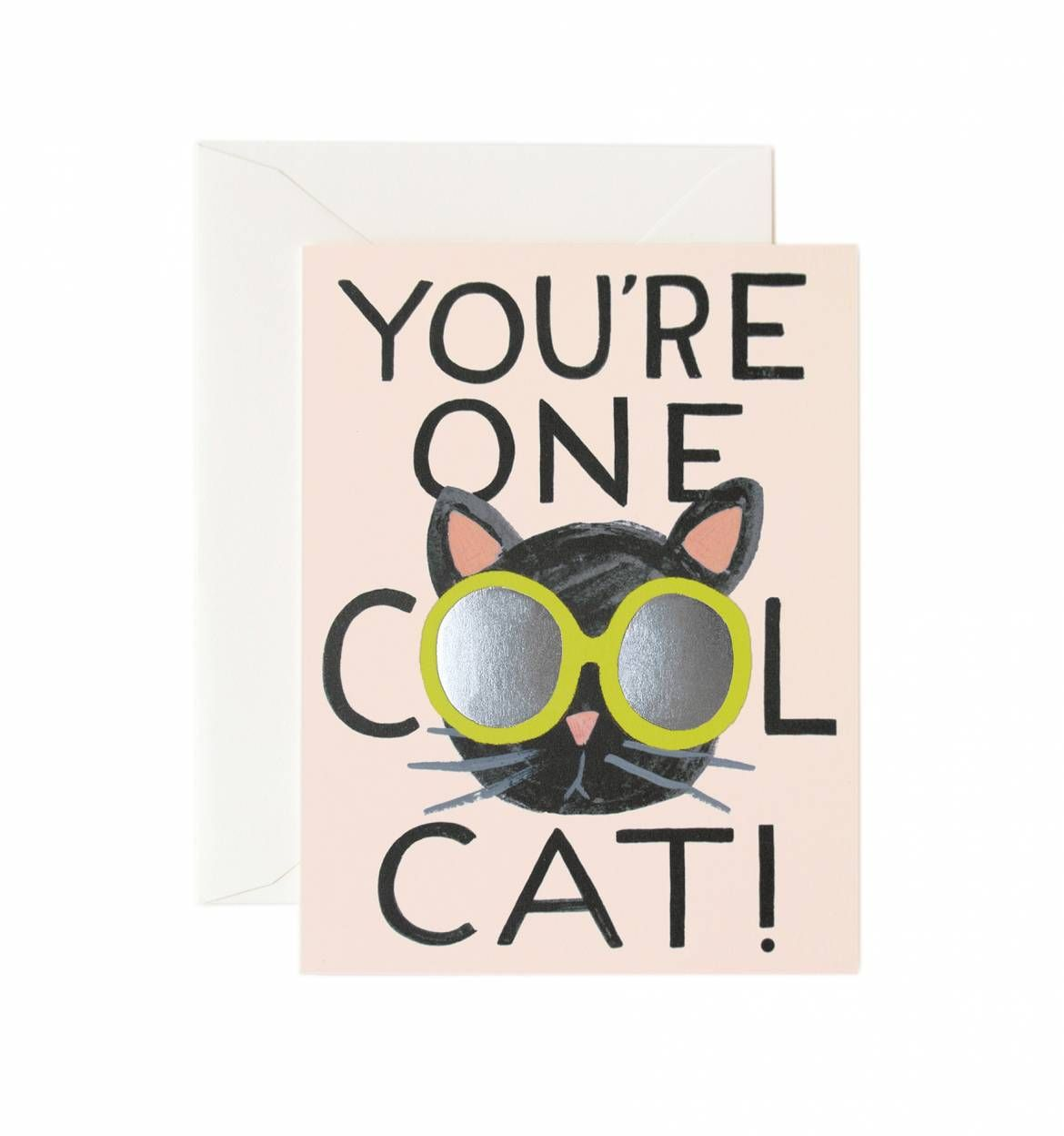 Cool cat greeting card box sets and box cool cat available as a single folded card or boxed set of 8 kristyandbryce Choice Image