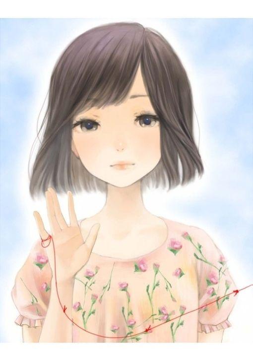Asian girls cartoon