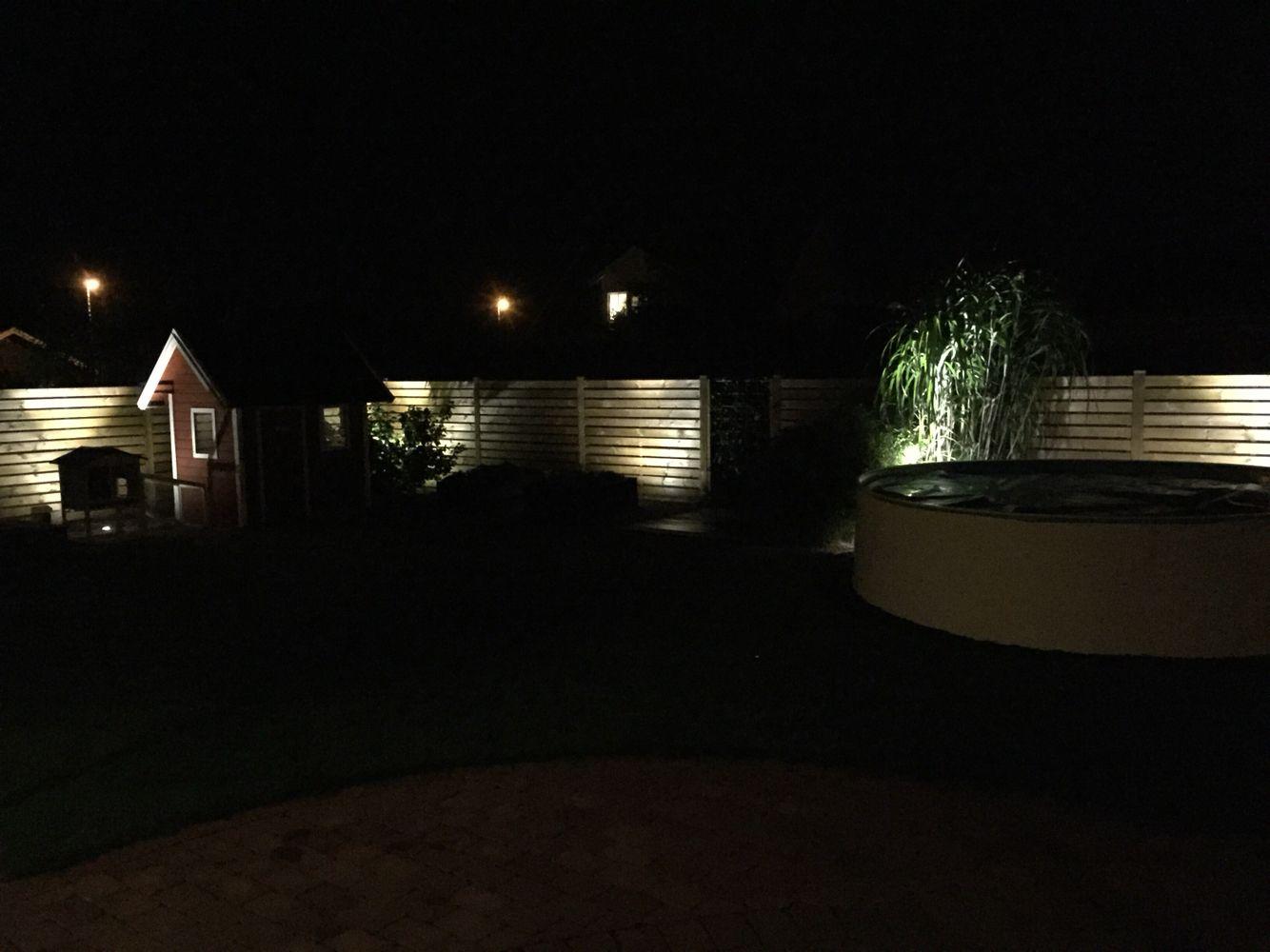 Trädgård plank trädgård : Belysning av plank med 6st uplight 6w LED (12v) | Min TrädgÃ¥rd ...
