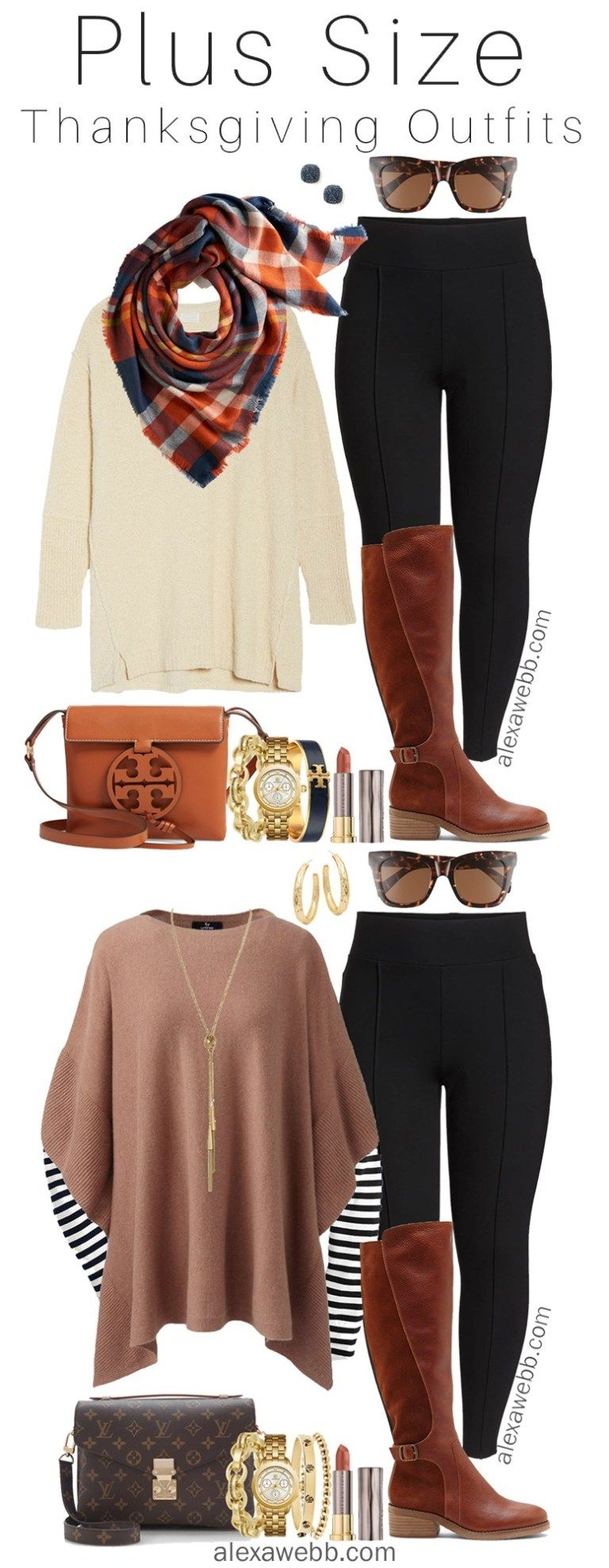 Plus Size Thanksgiving Outfits - Part 1 - Plus Size Fall Casual Outfit Ideas…