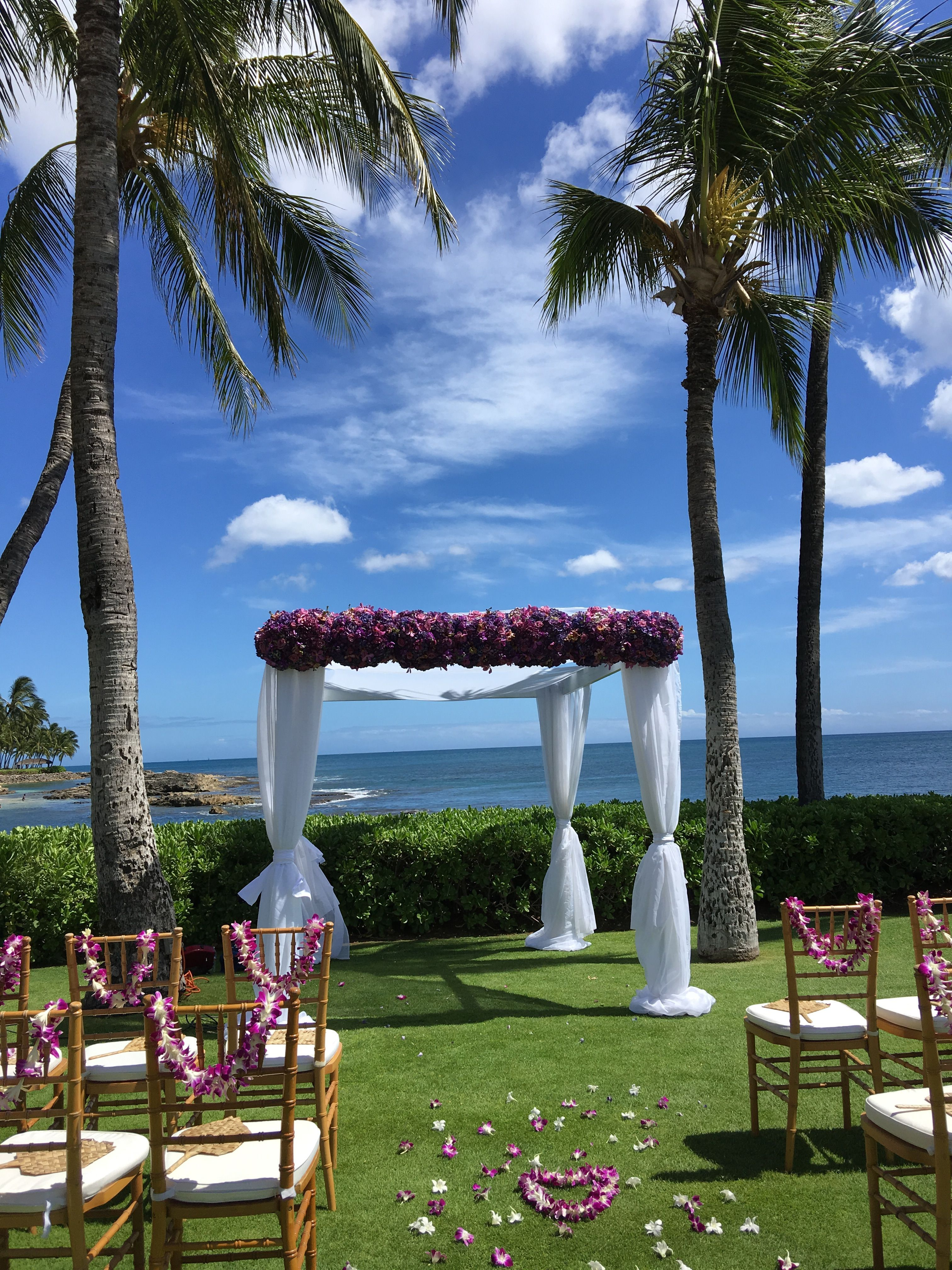 The Point At Paradise Cove On Oahu Wedding Planned By Hawaii Weddings Tori Rogers