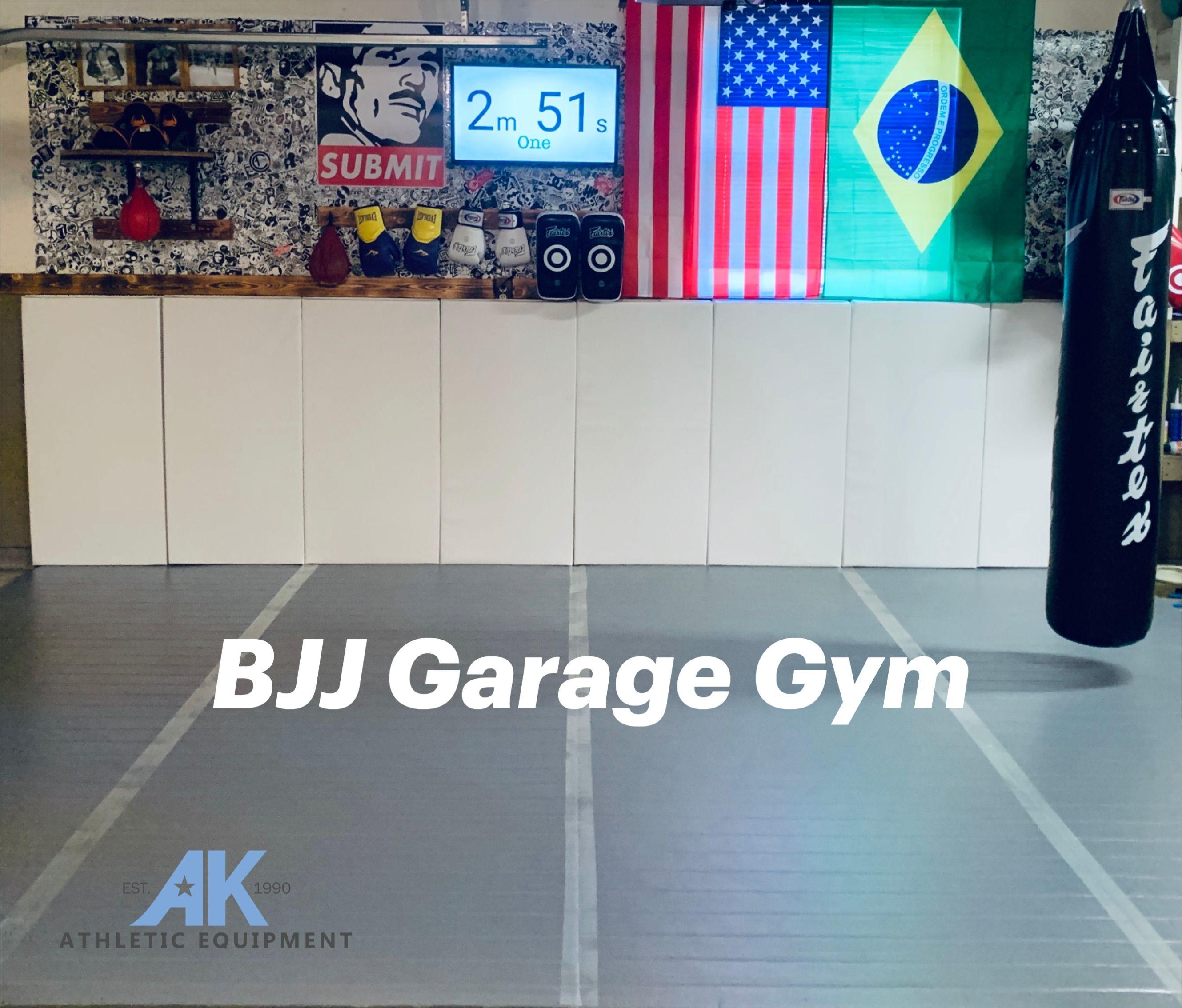 Brazilian Jiu Jitsu Room Bjj Room Bjj Garage Gym Home Bjj Room Design In 2020 Garage Gym Garage Gym Design Diy Home Gym