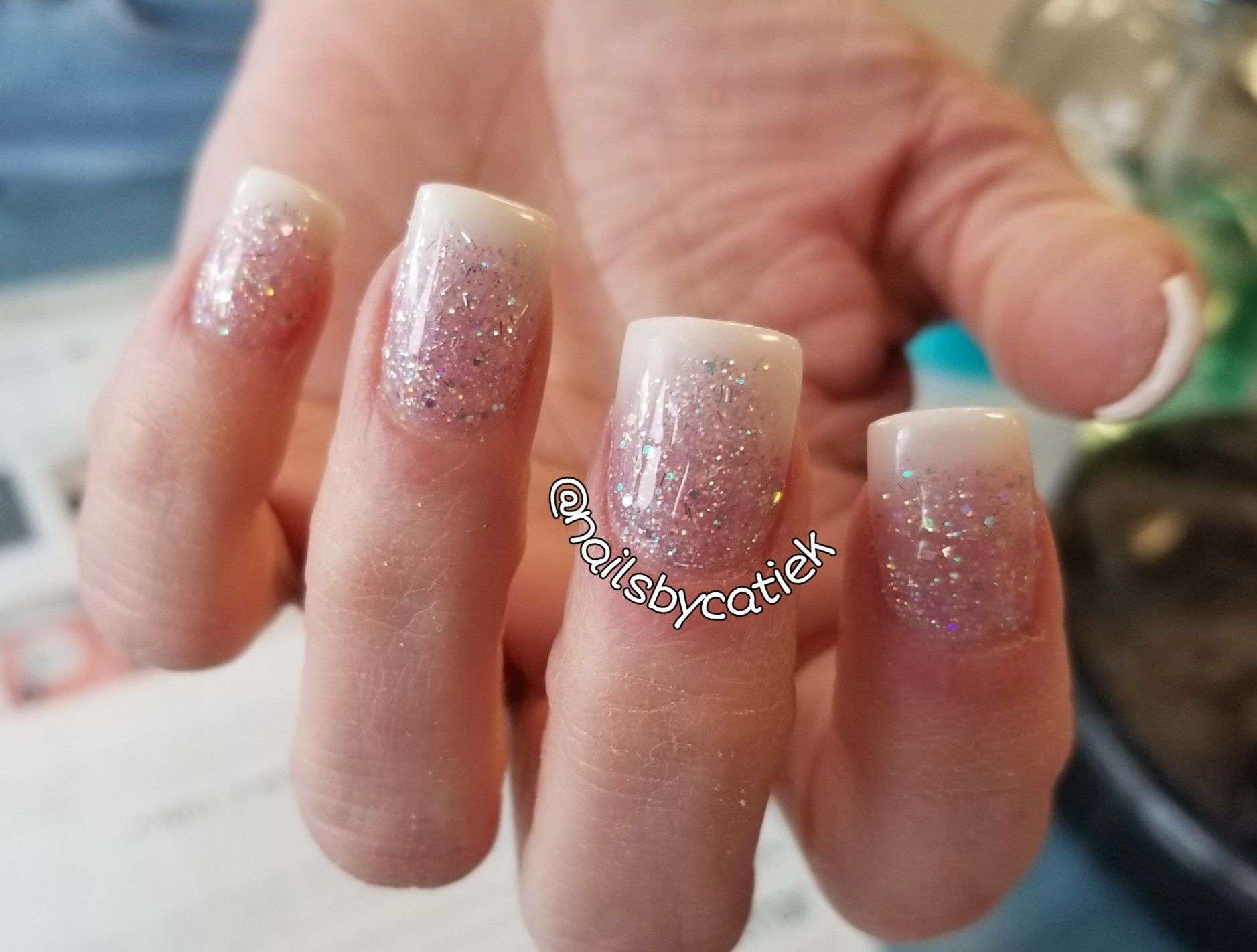 Glitter Baby Boomer Acrylic Nails With Images Nails Acrylic