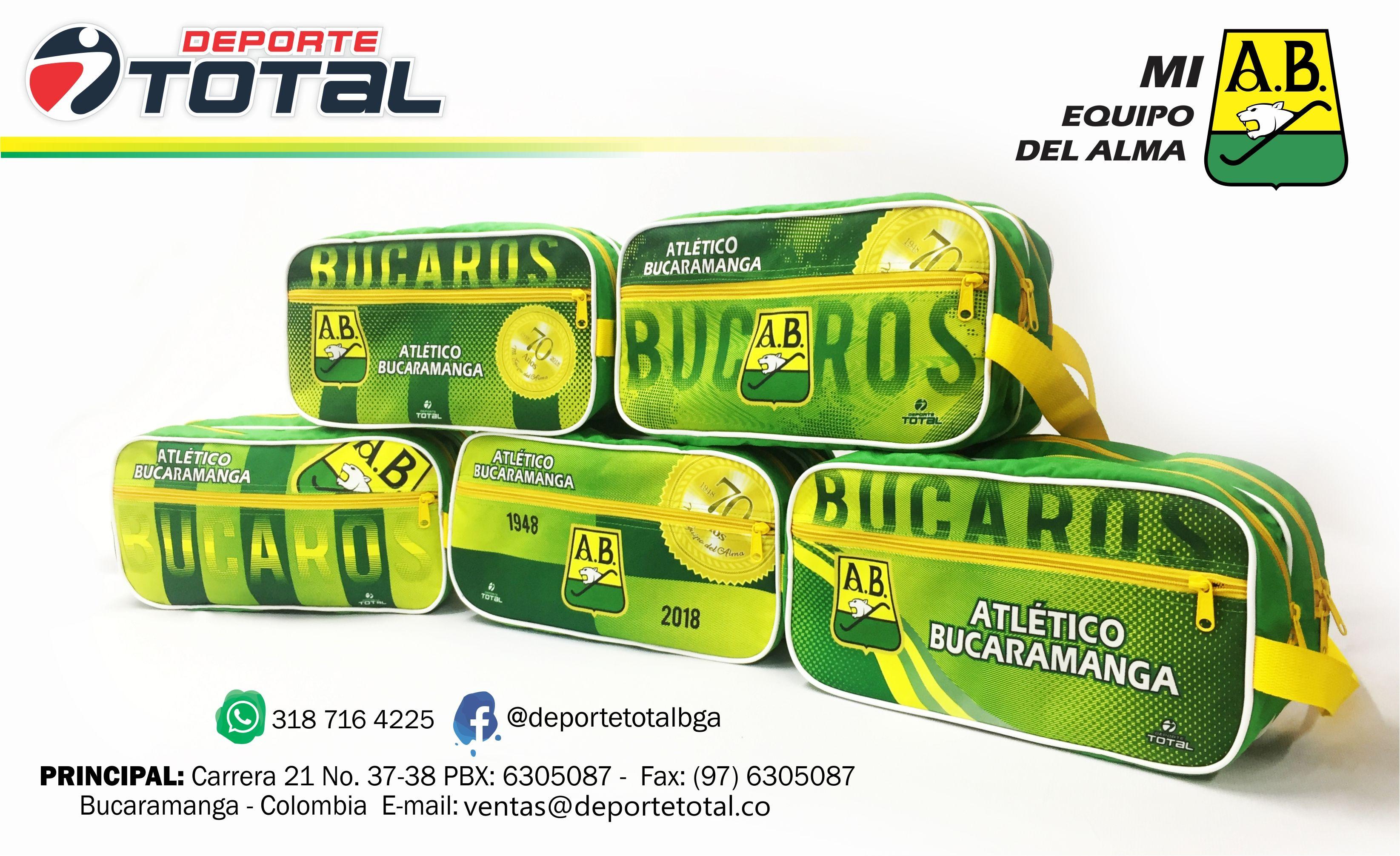 GUAYERA BOLSO DEPORTIVO FUTBOL - DEPORTE TOTAL - ATLETICO BUCARAMANGA -  COLOMBIA - TIENDA DEPORTIVA - 99ccf3d2306