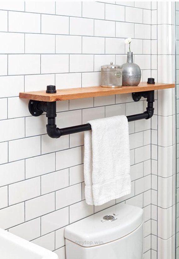 Industrielle Handtuch Rack Regal, rustikale Badezimmer Zubehör