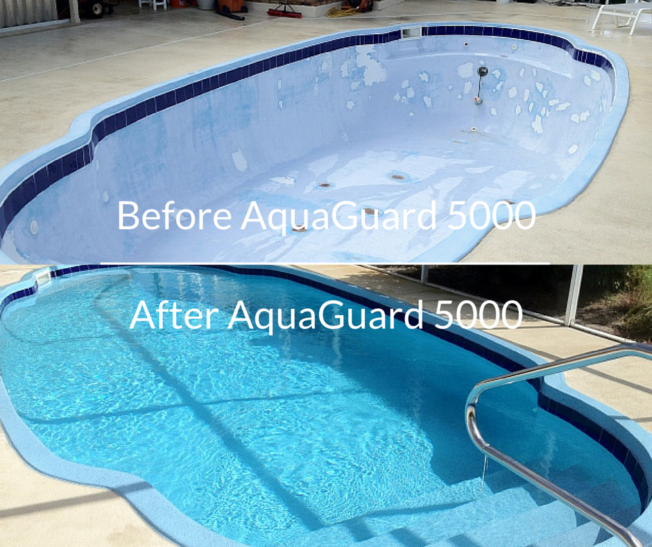 Repair Resurface And Refinish Pool With Aquaguard 5000 Diy The Home Owner Or Pool Professional Who Wants To Use Pool Paint Pool Resurfacing Pool Refinishing