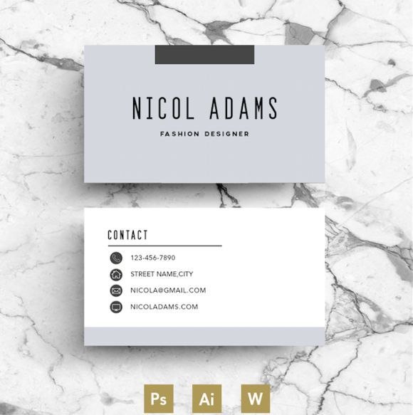 Best Creative Business Card Template   CV business cards - different types of resumes