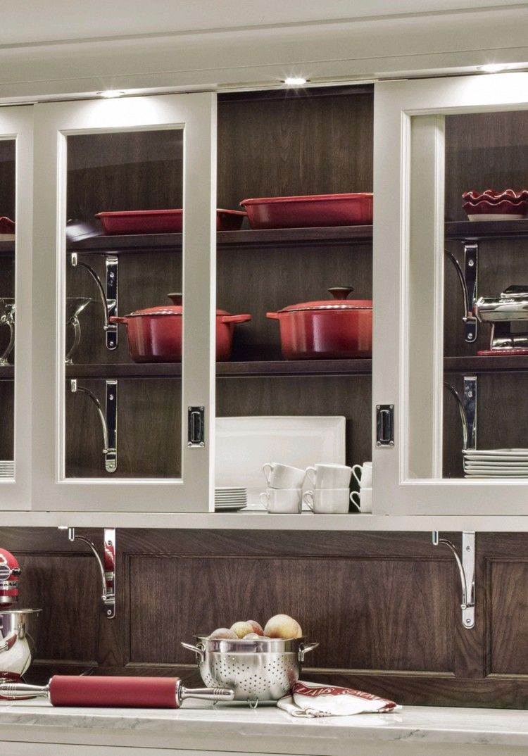 tuersysteme kuechenoberschraenke platzsparend, glasschiebetüren für küchenoberschränke | wohnen | pinterest, Design ideen