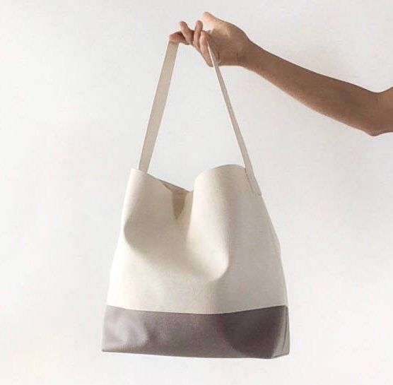 Christmas gift for her bag hobo bag white ivory, vegan purse hobo