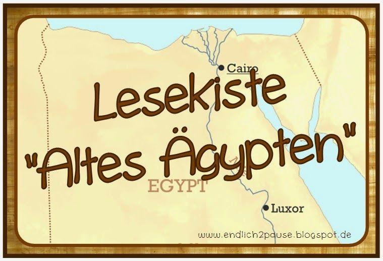 endlich pause 2 0 lesekiste altes gypten reli altes gypten gypten und gypter. Black Bedroom Furniture Sets. Home Design Ideas