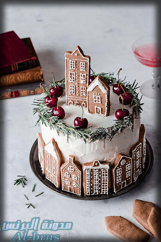 صور كيك عيد ميلاد اطفال بالصور روعه صور كيك عيد ميلاد Christmas Cake Christmas Cake Designs Amazing Christmas Desserts