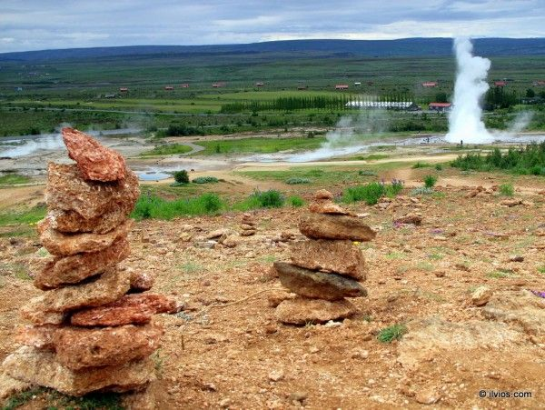 It's all about perspective - Strokkur geysir, Iceland.