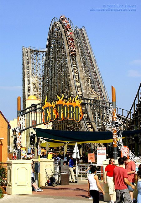 Roller Coaster Entrance El Toro Six Flags Great Adventure Six Flags Great Adventure Roller Coaster Ride Roller Coaster