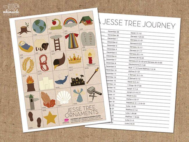 Free Printable Jesse Tree Ornaments | Jesse tree for advent ...