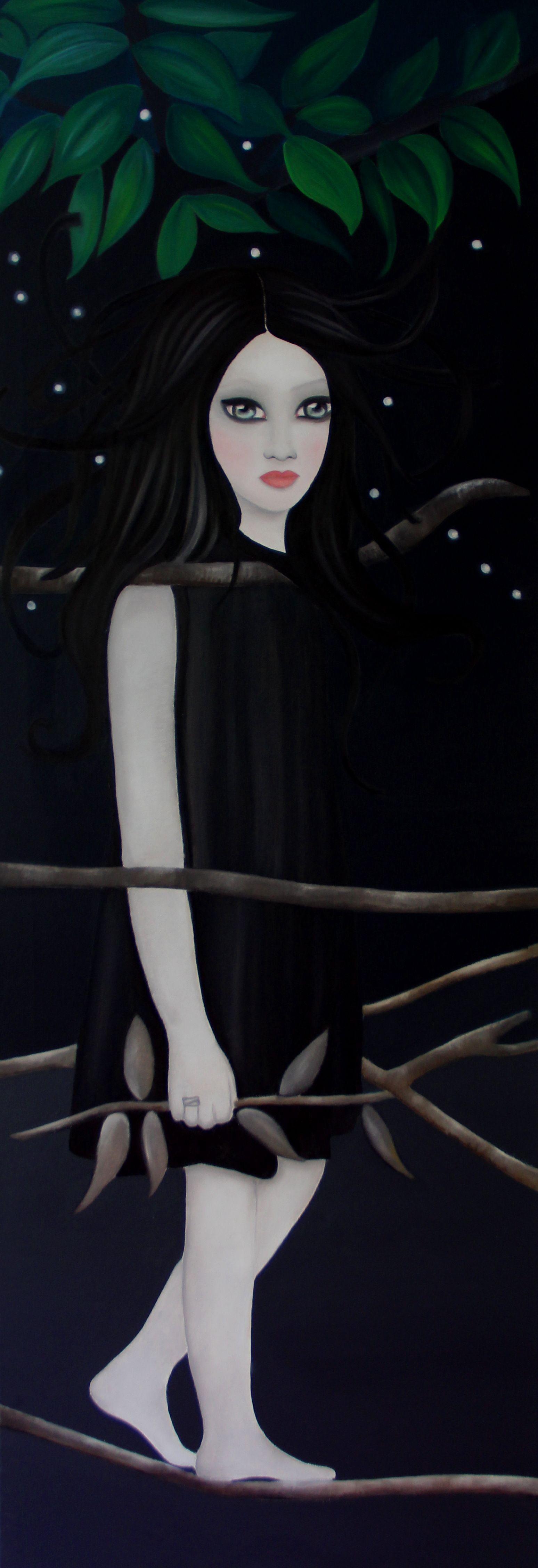 Evil Mary // Öl auf Leinwand 50x150