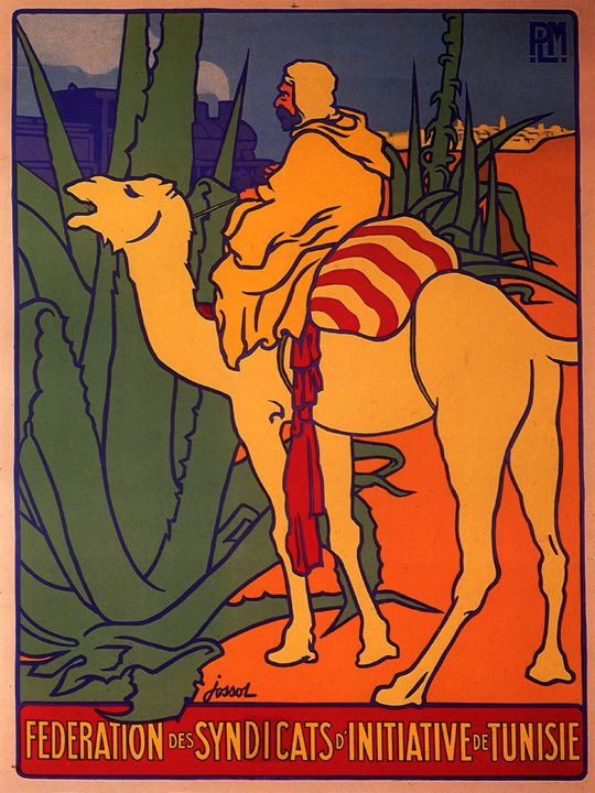 "CAMEL ARAB MOROCCO ARABIC TUNISIA TUNISIE TRAVEL VINTAGE POSTER REPRO 12""X16""  - Maroc Désert Expérience tours http://www.marocdesertexperience.com"